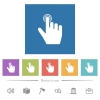 right handed clicking gesture flat white icons in square backgrounds - right handed clicking gesture flat white icons in square backgrounds. 6 bonus icons included.