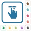 right handed scroll right gesture simple icons - right handed scroll right gesture simple icons in color rounded square frames on white background