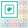 Adjust object color flat color icons with quadrant frames - Adjust object color flat color icons with quadrant frames on white background