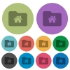Home folder color darker flat icons - Home folder darker flat icons on color round background