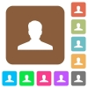 Anonymous avatar rounded square flat icons - Anonymous avatar flat icons on rounded square vivid color backgrounds.