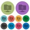 FTP delete color darker flat icons - FTP delete darker flat icons on color round background