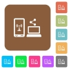 Share mobile internet rounded square flat icons - Share mobile internet flat icons on rounded square vivid color backgrounds.
