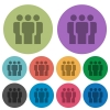 Team color darker flat icons - Team darker flat icons on color round background