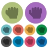 Right handed grab gesture color darker flat icons - Right handed grab gesture darker flat icons on color round background