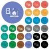 Share mobile internet round flat multi colored icons - Share mobile internet multi colored flat icons on round backgrounds. Included white, light and dark icon variations for hover and active status effects, and bonus shades.