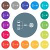 Network address translation flat white icons on round color backgrounds - Network address translation flat white icons on round color backgrounds. 17 background color variations are included.