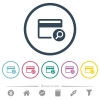 Find credit card flat color icons in round outlines - Find credit card flat color icons in round outlines. 6 bonus icons included.