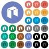 Neo digital cryptocurrency round flat multi colored icons - Neo digital cryptocurrency multi colored flat icons on round backgrounds. Included white, light and dark icon variations for hover and active status effects, and bonus shades.