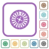 Roulette wheel simple icons - Roulette wheel simple icons in color rounded square frames on white background