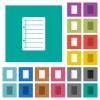 Scratch pad square flat multi colored icons - Scratch pad multi colored flat icons on plain square backgrounds. Included white and darker icon variations for hover or active effects.