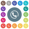 Hotline flat white icons on round color backgrounds - Hotline flat white icons on round color backgrounds. 17 background color variations are included.