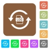 Log file rotation flat icons on rounded square vivid color backgrounds. - Log file rotation rounded square flat icons - Small thumbnail