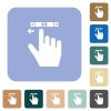 right handed scroll left gesture rounded square flat icons - right handed scroll left gesture white flat icons on color rounded square backgrounds