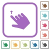 Right handed move up gesture simple icons - Right handed move up gesture simple icons in color rounded square frames on white background