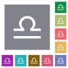 libra zodiac symbol square flat icons - libra zodiac symbol flat icons on simple color square backgrounds