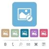 Rename image flat icons on color rounded square backgrounds - Rename image white flat icons on color rounded square backgrounds. 6 bonus icons included