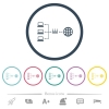 Network address translation flat color icons in round outlines - Network address translation flat color icons in round outlines. 6 bonus icons included.