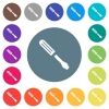 Single screwdriver flat white icons on round color backgrounds - Single screwdriver flat white icons on round color backgrounds. 17 background color variations are included.