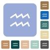aquarius zodiac symbol rounded square flat icons - aquarius zodiac symbol white flat icons on color rounded square backgrounds