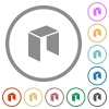 Neo digital cryptocurrency flat icons with outlines - Neo digital cryptocurrency flat color icons in round outlines on white background