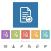 Undo document changes flat white icons in square backgrounds - Undo document changes flat white icons in square backgrounds. 6 bonus icons included.