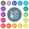 Set of screwdriver bits flat white icons on round color backgrounds - Set of screwdriver bits flat white icons on round color backgrounds. 17 background color variations are included.