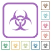 Biohazard sign simple icons - Biohazard sign simple icons in color rounded square frames on white background