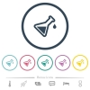 Experiment flat color icons in round outlines - Experiment flat color icons in round outlines. 6 bonus icons included.