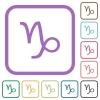 Capricorn zodiac symbol simple icons - Capricorn zodiac symbol simple icons in color rounded square frames on white background