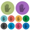 Left hand color darker flat icons - Left hand darker flat icons on color round background