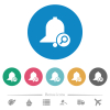 Find reminder flat round icons - Find reminder flat white icons on round color backgrounds. 6 bonus icons included.