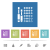 Set of screwdriver bits flat white icons in square backgrounds - Set of screwdriver bits flat white icons in square backgrounds. 6 bonus icons included.