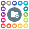Rank directory flat white icons on round color backgrounds - Rank directory flat white icons on round color backgrounds. 17 background color variations are included.