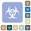 Biohazard sign rounded square flat icons - Biohazard sign white flat icons on color rounded square backgrounds