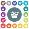 Toolbox flat white icons on round color backgrounds - Toolbox flat white icons on round color backgrounds. 17 background color variations are included.