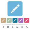 Spirit level white flat icons on color rounded square backgrounds. 6 bonus icons included - Spirit level flat icons on color rounded square backgrounds