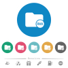 Directory permissions flat white icons on round color backgrounds. 6 bonus icons included. - Directory permissions flat round icons
