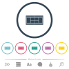 Tennis court flat color icons in round outlines - Tennis court flat color icons in round outlines. 6 bonus icons included.