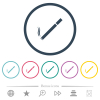 Cigarette flat color icons in round outlines. 6 bonus icons included. - Cigarette flat color icons in round outlines
