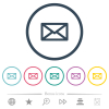 Message flat color icons in round outlines. 6 bonus icons included. - Message flat color icons in round outlines