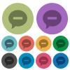 Delete comment color darker flat icons - Delete comment darker flat icons on color round background
