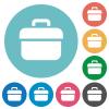 Toolbox flat round icons - Toolbox flat white icons on round color backgrounds