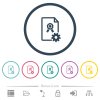 Generating certificate flat color icons in round outlines - Generating certificate flat color icons in round outlines. 6 bonus icons included.