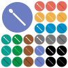 Matchstick multi colored flat icons on round backgrounds. Included white, light and dark icon variations for hover and active status effects, and bonus shades. - Matchstick round flat multi colored icons