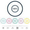 100 percent loaded flat color icons in round outlines. 6 bonus icons included. - 100 percent loaded flat color icons in round outlines