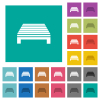 Single pallet square flat multi colored icons - Single pallet multi colored flat icons on plain square backgrounds. Included white and darker icon variations for hover or active effects.