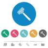 Razor flat round icons - Razor flat white icons on round color backgrounds. 6 bonus icons included.