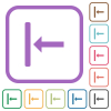 Align to left simple icons - Align to left simple icons in color rounded square frames on white background