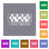 Roulette table square flat icons - Roulette table flat icons on simple color square backgrounds